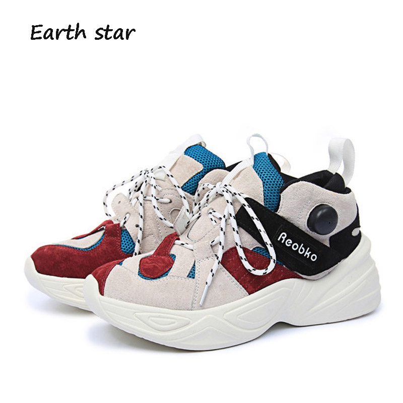 footware Women STAR Platform New Lady Real Brand Breathable All Female  Fashion Shoes Leather White Match ... 2b1109c94060