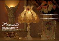 Lampes de Table En Cristal de Lumière Moderne Lampe Dentelle Décoratif Fille Princesse De Mariage Tissu