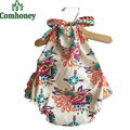 Newborn Baby Clothes Summer Floral Princess Romper for Girls Sleeveless Infant Jumpsuit Bebe Clothes Toddler Beach Baby Romper