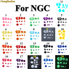 ChengHaoRan 1set 21color Analog Stick Cap Button Keypads Y X A B Z Buttons for Nintend Gamecube controller - Joystick Thumbstick