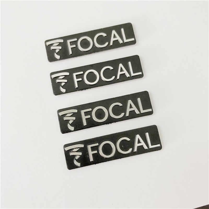 10 Uds altavoz focal Hi-Fi altavoz de audio 3D insignia de aluminio emblema etiqueta adhesiva estéreo 3,4*0,9mm