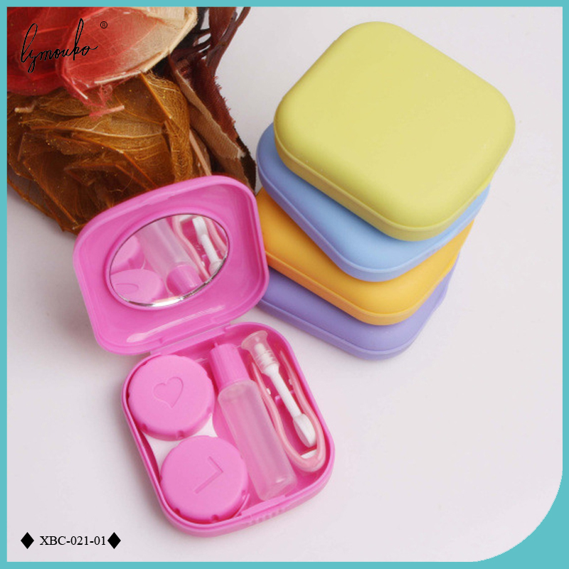 Lymouko Mooie Pocket Mini Contact Lens Case Travel Kit Gemakkelijk Carry Spiegel Lenzen Box Container