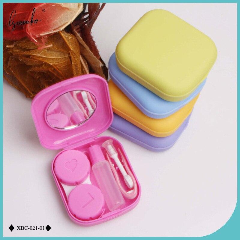 Lymouko Schöne Tasche Mini Kontaktlinsen Fall Travel Kit Einfach Tragen Spiegel Linsen Box Container