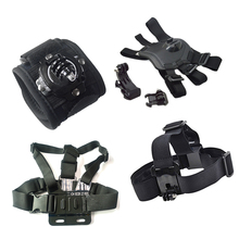 Action Camera Gopro Accessories Headband Chest Head Strap For Go pro Hero 3 3+ 4 SJ4000 Sport Cam