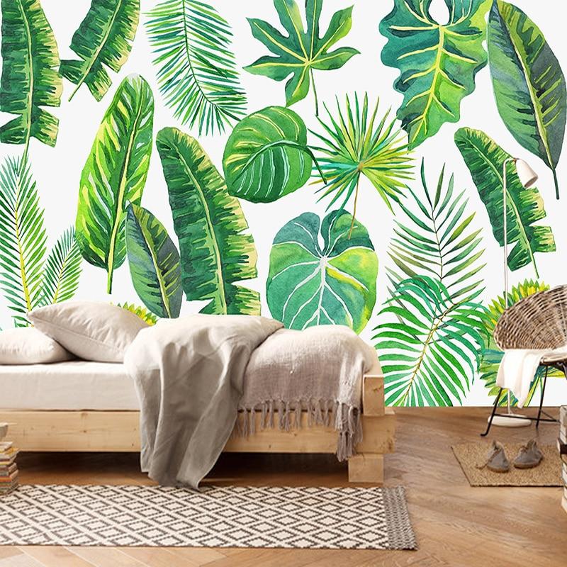 Woven Leaves Wall Decor : Aliexpress buy custom d mural wallpaper non woven