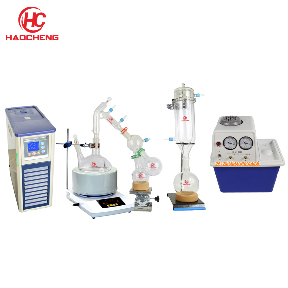 Free shipping Stocks Available 2L Full Short Path Distillation Ket with Stirring Heating Mantle Chiller Vacuum
