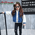 chifave Girls Denim Jacket Fashion Children Kids Clothing Girls Wool Sleeve Jean Coat Leisure Outwear for 3T-7T Baby Girls