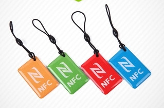 NTAG216 13.56MHZ Waterproof NFC Epoxy tag keyfobs compatible for all cell phone device Galaxy S5 S4 Lumia 100pcs nfc keyfobs purple keychain available for all nfc phone ntag213 waterproof factory price