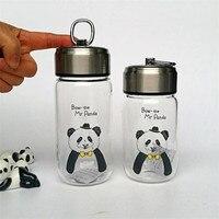 Fox Lion Bear Panda High Quality Glass Cups Coffee Cup Mug Flower Tea Cups Thermal Water