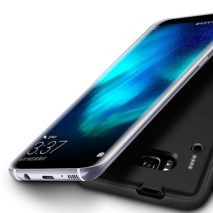 imágenes para Banco de la energía Para la Galaxia S8 Más 5000 mAh Ultra Thin Caso Del Cargador de Batería Externa Powerbank Para Samsung S8 + Caso de carga