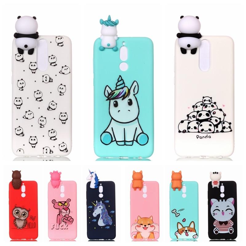 Galleria fotografica Etui Huawei Mate 10 Lite Phone Case Cartoon 3D Unicorn Panda Dog Silicone Case Cover on for Funda Huawei Mate 10 Nova 2i Case