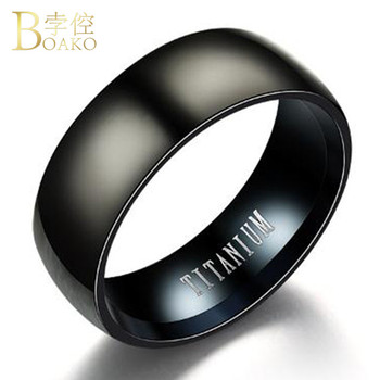 2018 Black Wave Ring Men Titanium Steel Stainless Steel Ring For Women Boho Punk Style Jewelry Fashion Motor Biker Ring Men G5KG image