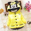 Baby Winter Girls Boys Cotton Cartoon Coat Long Sleeve Jacket Thick Winter Warm Outerwear Fashion Solid Color Kids Cute Clothes