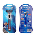 BAILI Barber Manual 5 Layers Blades Cartridge Shaving Safety Razor Shaver Knife for Men Beard Hair Shave Regal Series 1 Piece