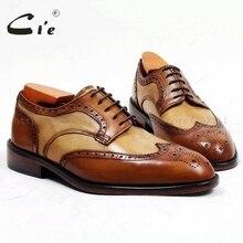 Cie/ ; мужские туфли ручной работы на заказ из проклеенной телячьей кожи; кожаные туфли в стиле дерби с круглым носком; Разноцветные туфли на плоской подошве; D151