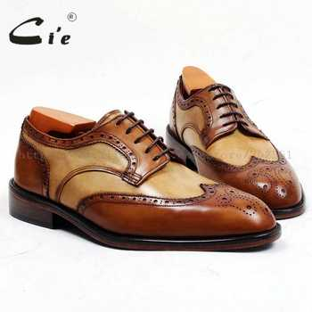 cie Free Shipping Bespoke Custom Handmade Adhesive Calf Leather Men Shoe Derby Round Toe Leather Outsole Mix Colors Flats D151 - DISCOUNT ITEM  0% OFF All Category