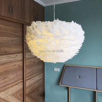 Bedroom chandelier warm romantic creative dining room living room lamp wedding room children room personality feather lamp LED