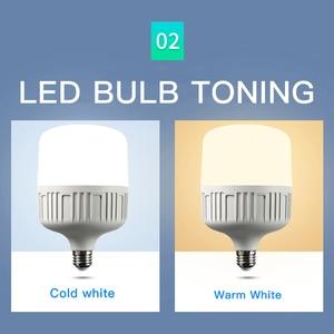 Image 3 - LED lamp E27 LED Bulb AC 220V 230V 240V 50W 40W 30W 20W 15W 10W 5W Lampada LED Spotlight Cold White Warm White lamp Lamps light