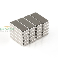 OMO Magnetics 20pcs Super Strong Block Cuboid Magnets Rare Earth Neodymium 12 x 5 x 2 mm N50