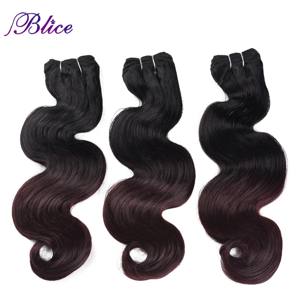 Blice Synthetic Hair Weaving 18 26 Inches T Colors Body Wave Double Long Weft Sew in Hair Extensions 100G Piece 3Pieces Lot in Synthetic Weave from Hair Extensions Wigs