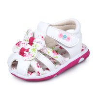 2017 Summer Baby Sandals Clogs Princess Shoes Baby Girl Toddler Shoes 0 1 2 Years Old