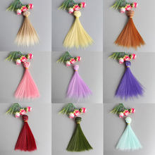 1 PC Cute Mini 15*100cm Popular Doll Hair Wig High-Temperature Material Straight Hair Wig For BJD Kids Gifts(China)