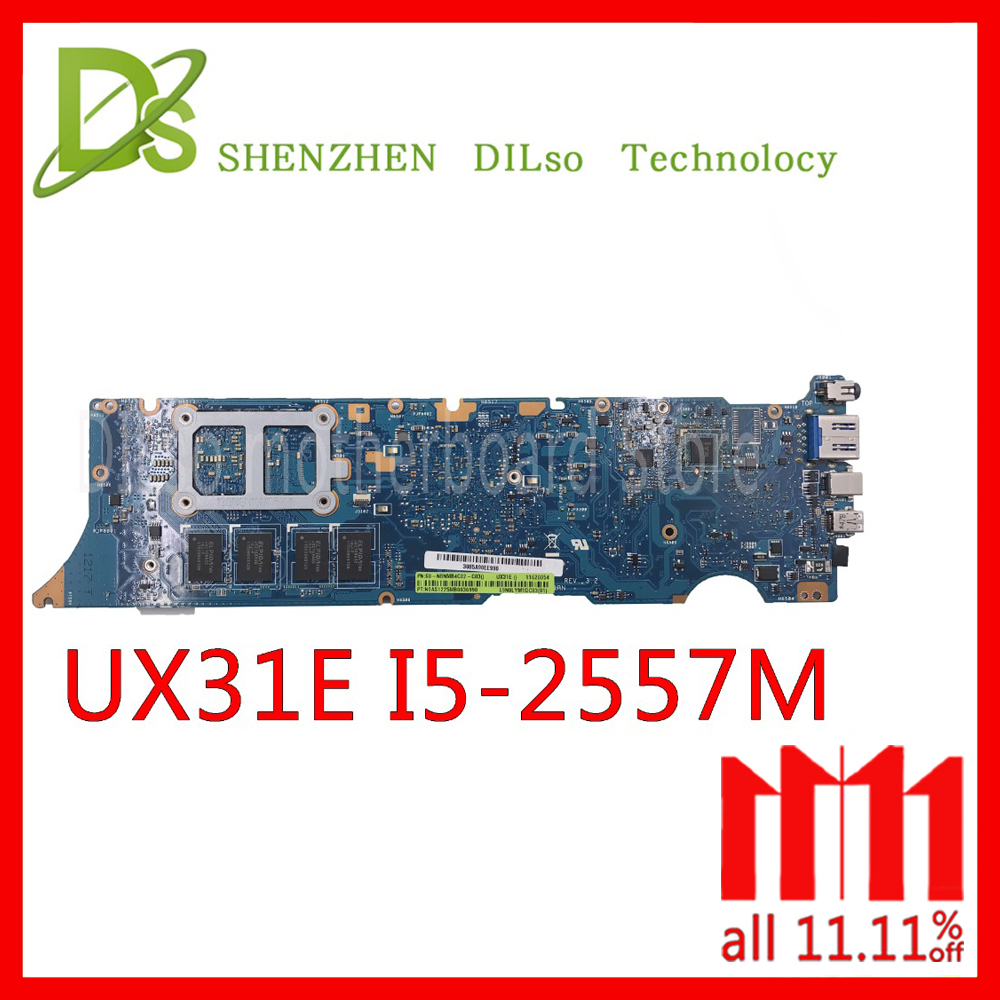 For ASUS UX31E Motherboard Ux31e Mainboard Laptop Motherboard Integrated I5 Cpu Test Work 100%