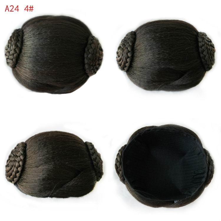 9CM Women Chignons Braid chignon bun hairpiece synthetic chignon hair pieces updo hair accessories A24