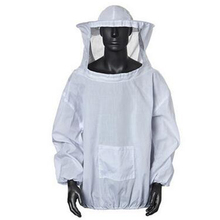 2XL Zipper Guard Safety Long Sleeve Defense Beekeeping Suit Coat With Hood White Shield Protective Costume Practical Cover