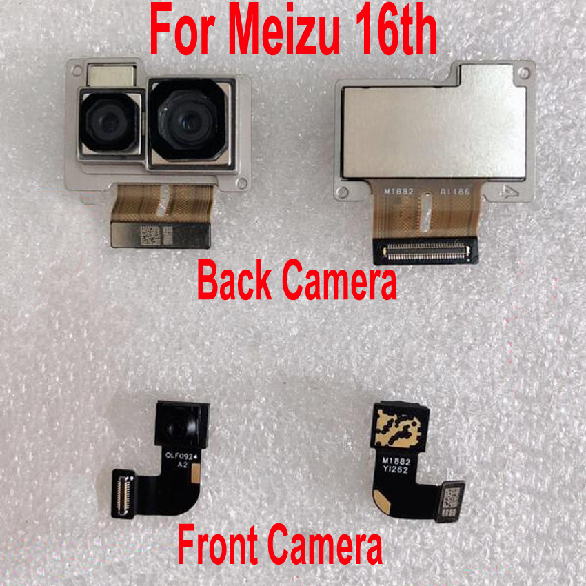 Best Working Original Front Small Facing <font><b>Camera</b></font> For <font><b>Meizu</b></font> 16 th <font><b>16th</b></font> M882Q M882H Big Main Rear Back <font><b>Camera</b></font> Flex Cable Phone Part image