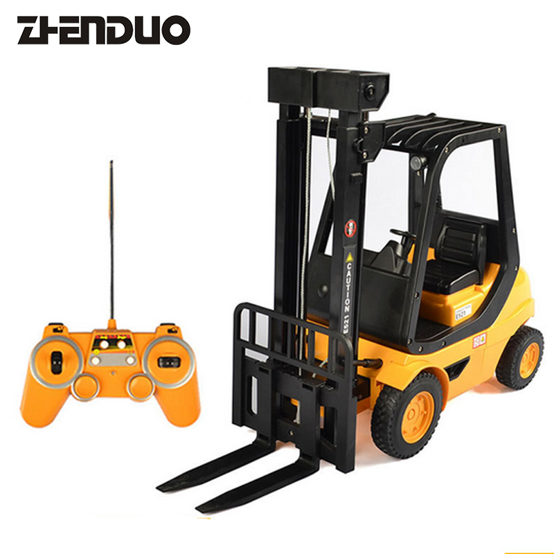 ZhenDuo Toys E521-001 Remote Control Forklift Truck Carrier Engineering vehicle Charging Electric Simulation Toy