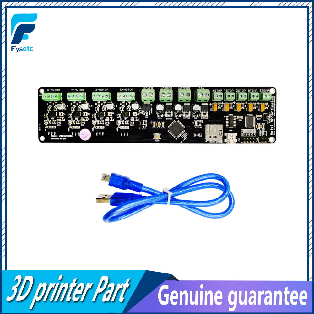 3D printer control board DIY kit part tronxy Melzi 2.0 1284P 3D PRINTER PCB BOARD IC ATMEGA1284P accessories with 12864 LCD infiniti ink supply&heating board for 8230b 8320c 3360ec 8250sl 8250b 8250c main board printer part pcb