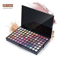 Professionele 252 kleur Oogschaduw Palette Pigment Oogschaduw Paletten Make up Professionele Make Cosmetische Voor vrouwen