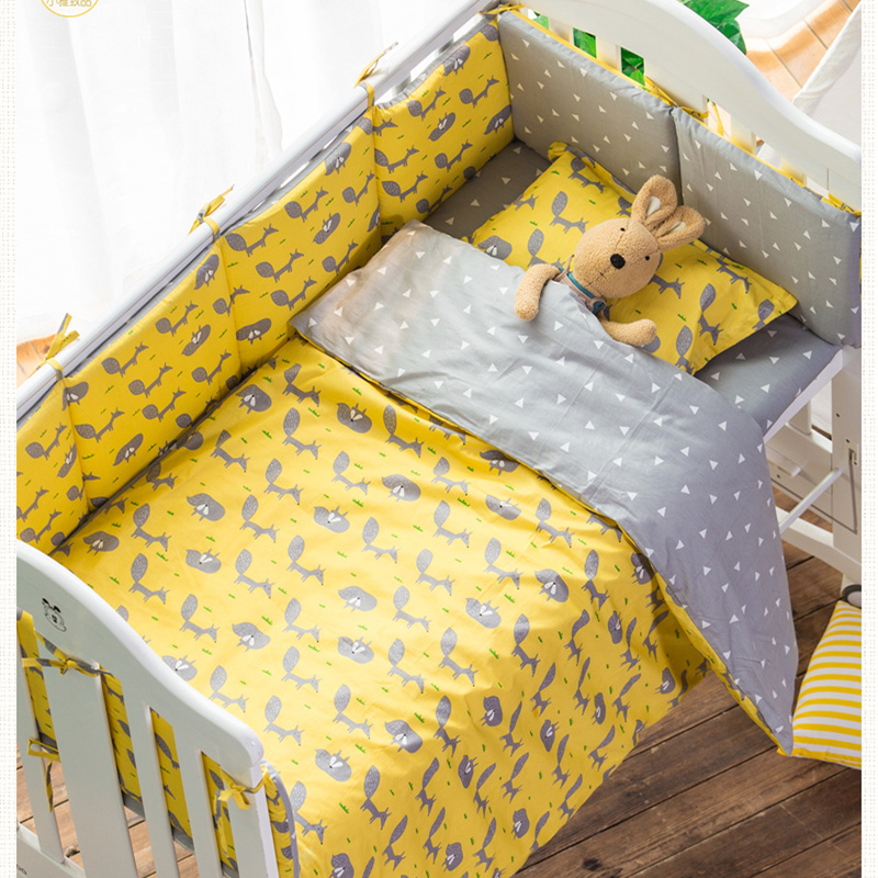 3pcs Nordic Style Baby Bedding Set Kindergarten Baby Bed Bedclothes 100% Cotton Cot Bedding Include Sheet Duvet Cover Sheet