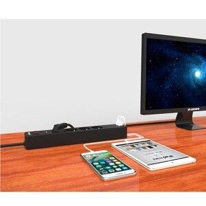 Image 5 - شبكة تصفية 3 AC + 2 USB قطاع الطاقة الإلكترونية المقبس المنزل مكتب عرام حامي الاتحاد الأوروبي التوصيل سريع تهمة تمديد مأخذ (فيشة) ذكي