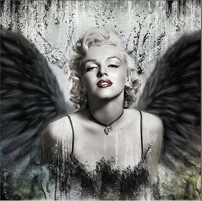 2a7c0b7c43b6ef Marilyn Monroe wings Sexy art Oil Painting Canvas Figure painting Wall  pictures Modern Hand Painted Art Decor Home Living Room