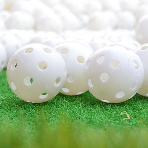 6 Pcs Indoor Elastic Golf Hollow Ball Rubber Hole Golfs Beginner Practice Training Ball-in Golf Balls from Sports & Entertainment