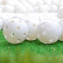 6 Pcs Indoor Elastic Golf Hollow Ball Rubber Hole Golfs Beginner Practice Training Ball