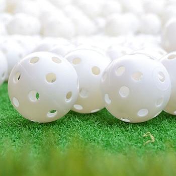 6 Pcs Indoor Elastic Golf Hollow Ball Rubber Hole Golfs Beginner Practice Training