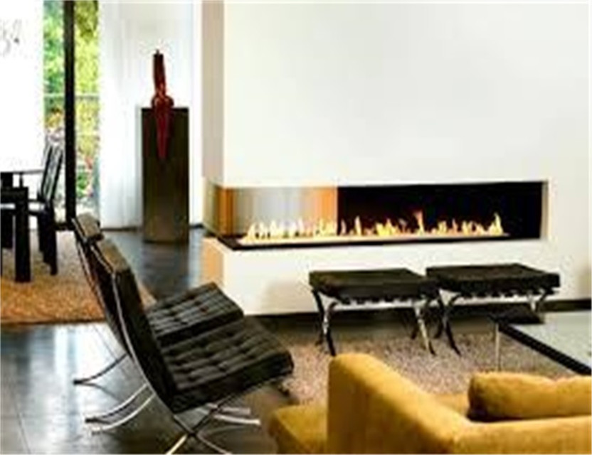 72 Inch  Black Or Silver Remote Control Intelligent Wifi Bio Ethanol Electric Fireplace Large