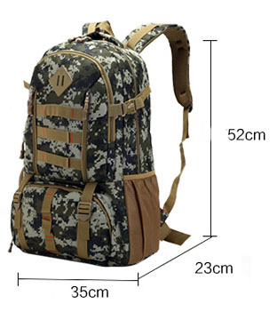 Bago Men High Quality 50L Heavy Duty Backpack