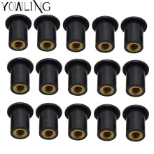 M5 5MM Motorcycle Well Nuts Blind Fastener Rivet Fishing Nuts Windscreen Wellnuts for TMAX 500/530 XMAX 125/200/250/400 XT600