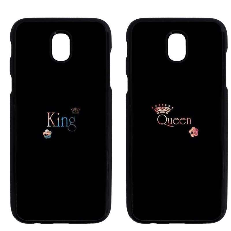 f855d9643e ... King Queen Couples Cover Case for iPhone 7 8 Plus X XS Samsung Galaxy  A3 A5