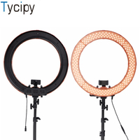 Tycipy 18 inch Ring Light LED Photography Daylight Studio Video Photo Light For DSLR Nikon Canon Smartphone Camera with Tripod