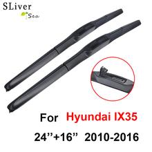 SLIVERYSEA Wiper Blade For Hyundai IX35 2010-2016 24''+16'' Rubber Windshield Windscreen Car Accessories CPU710