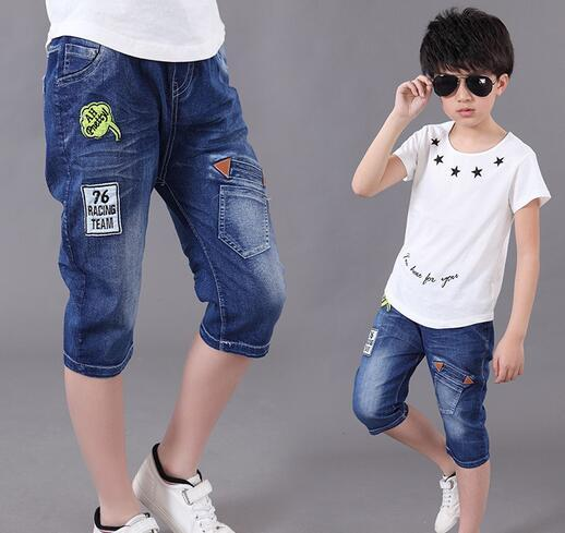 Hot Sale 2016 Summer Boys Fashion  Denim Pants Baby Kid Casual Short Jeans free shipping