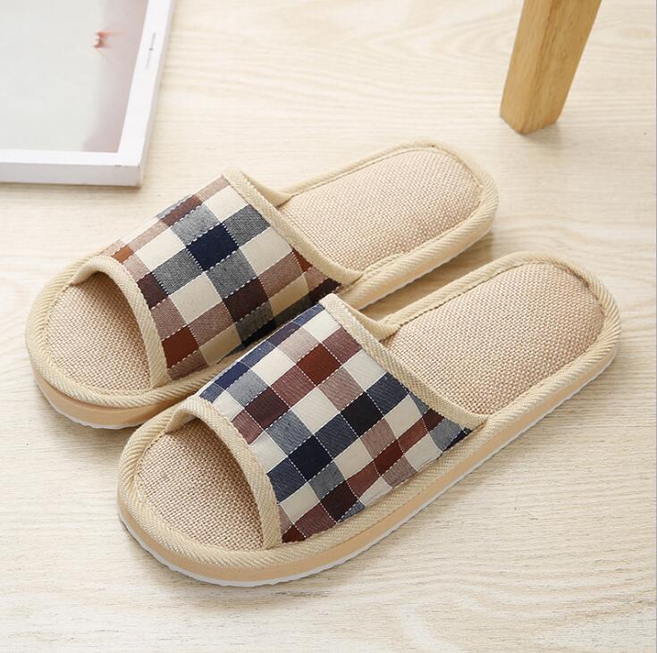 2019 Men Slippers NV197 198 Slippers Khaki Blue Cotton Slippers For Men Shoes High Quality Home