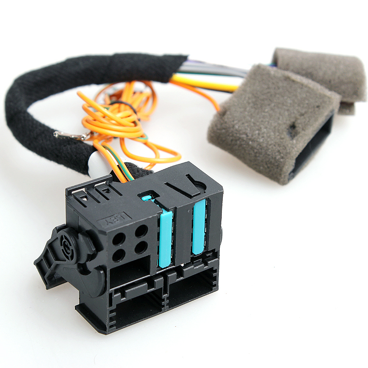 OEM VW RCD510 RCD310 Wiring Harness Adapter Radio ISO To Quadlock Fakra Cable For VW Golf 16 pin harness wiring diagram boss bv9555 boss rt3 wiring diagram boss bv9557 wire harness at bayanpartner.co