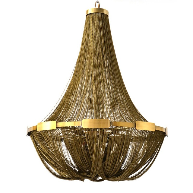 Aluminun Tassel Chain Vintage Chandelier E14 LED Lustres Fashion Designer chain lamps Hanging Lamp