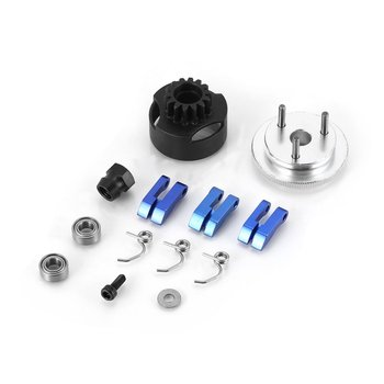 цена на Clutch Bell HPI 14T Gear Assembly Clutch Shoes Badminton Flywheel Springs Cone And Motor Nut For 1/8 RC Car Spare Parts HSP HOT!